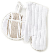 Southern Living Herringbone Quilted Pot Holder & Oven Mitt Set