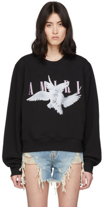 Amiri Black Logo Dual Doves Sweatshirt