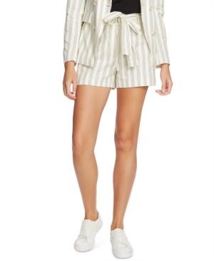 1 STATE Striped Cotton Tie-Waist Shorts