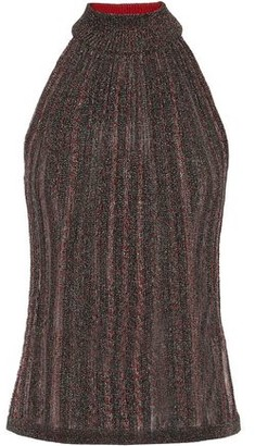 Missoni Metallic Ribbed-knit Top