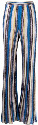 M Missoni Striped Wide-Leg Trousers