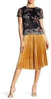 Lucy Paris Darla Pleated Velvet Skirt