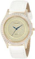 Akribos XXIV Women's AKR464YG Brillianaire Diamond Gold Swiss Quartz Strap Watch