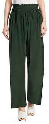 Sea Solange Smocked-Waist Silk Pants