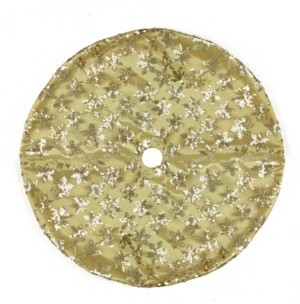 "Northlight 20"" Gold Sequin Snowflake Pattern Mini Christmas Tree Skirt"