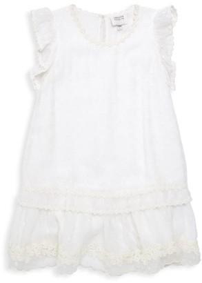 HEMANT AND NANDITA Little Girl's & Girl's Dot Tiered Dress