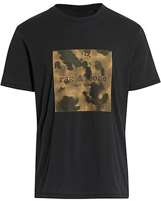 Rag & Bone Ink Camo Logo T-Shirt