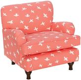 Skyline Furniture 100% Cotton Printed Child's Roll Arm Chair