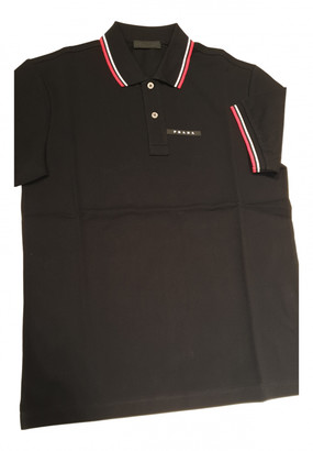 Prada Black Cotton Polo shirts