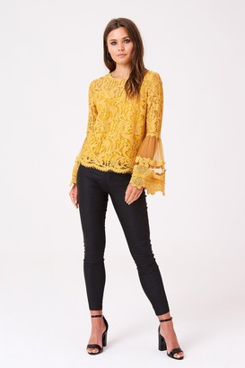 Girls On Film Levine Fluted Sleeve Top