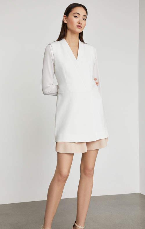 BCBGMAXAZRIA Caryn Wrap Vest Dress