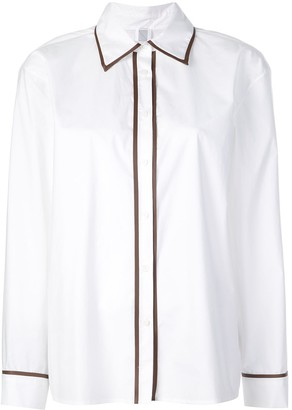 Rosie Assoulin Contrast Piped Trim Shirt