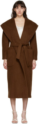 Max Mara Brown Gentile Wrap Coat