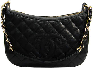 Chanel Black Quilted Caviar CC Shoulder Bag