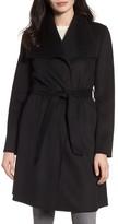Tahari Women's Ellie Double Face Wool Blend Wrap Coat