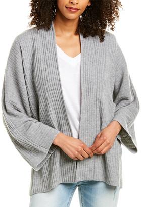 Vince Split Panel Wool & Cashmere-Blend Cardigan