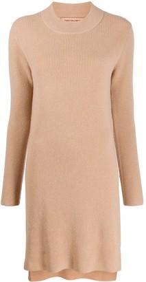 Yves Salomon knit crew-neck dress