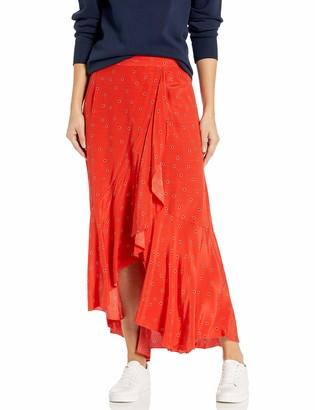 ASTR the Label Women's Nova Ruffle Hem Midi Skirt