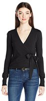 XOXO Women's L/s Wrap Front Cardigan