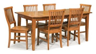 Three Posts Ferryhill Extendable Solid Oak Dining Table Color: Cottage Oak