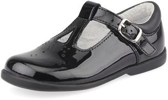 Start Rite Start-rite Girls Swirl T-Bar School Shoes - Black Patent
