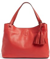 Tory Burch 'Thea' Tassel Leather Tote - Red