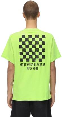 Memories Checker Neon Cotton T-shirt