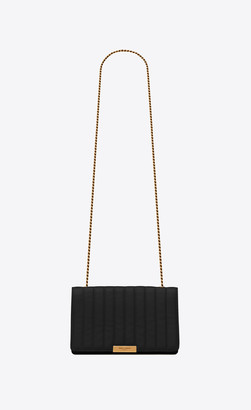 Saint Laurent 90's Chain Bag In Quilted Lambskin Black Onesize