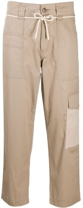 Closed Cropped Cargo Trousers