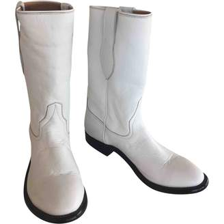 Tamara Mellon \N White Leather Boots