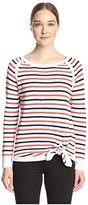 Shae Women's Stripe Pullover with Front Tie