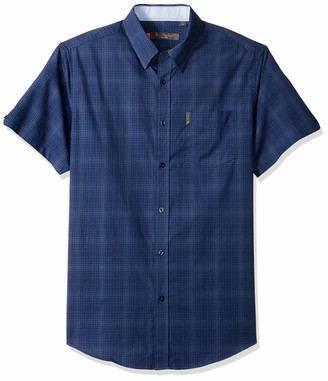 Ben Sherman Men's SS TONL Ombre Plaid Shirt