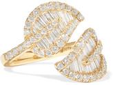 Anita Ko Leaf 18-karat Gold Diamond Ring