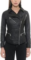 Forzieri Black Leather Women's Biker Jacket