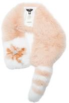 Fendi Flowerland fur scarf