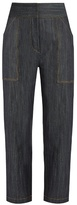 ADAM by Adam Lippes High-rise tapered-leg jeans