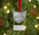 Pottery Barn Cat with Personalizable Tag Ornament