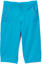Pink Angel Turquoise Embroidered Pocket Capri Pants - Girls