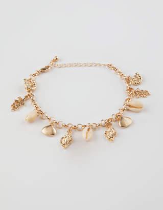 Full Tilt Puka Shell Charm Bracelet