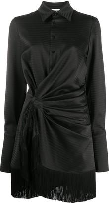 ATTICO Fringed Hem Shirt Dress