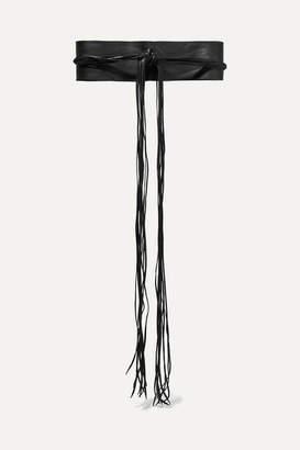 Caravana - Kiib Fringed Leather Waist Belt - Black