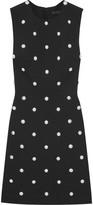 Alexander Wang Studded Crepe Mini Dress - Black