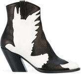 A.F.Vandevorst dove pattern boots - women - Leather/Sheep Skin/Shearling - 38