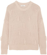 Madewell Tasseled Cotton Sweater - Antique rose