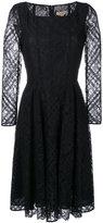 Burberry flared lace dress - women - Cotton/Polyamide/Polyester/Spandex/Elastane - 10