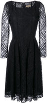 Burberry flared lace dress - women - Cotton/Polyamide/Polyester/Spandex/Elastane - 12