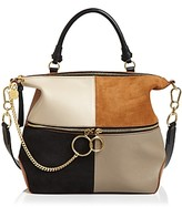 See by Chloe Emy Large Color-Block Leather & Suede Shoulder Bag
