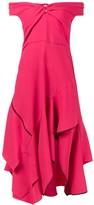 Peter Pilotto Pink Sweetheart Cold Shoulder Dress