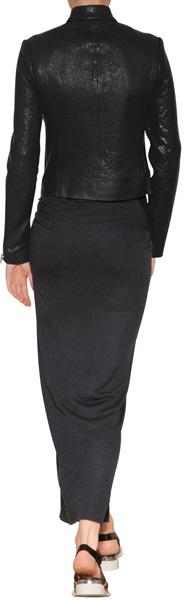 Helmut Lang Draped Maxi-Skirt in Titanium