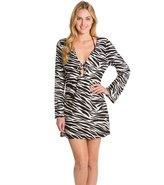 Kenneth Cole Reaction Zebra Fever Long Sleeve Tunic 8123512